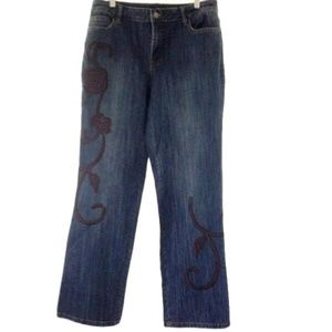 A.Z.I Jeans Embroidered Size 14